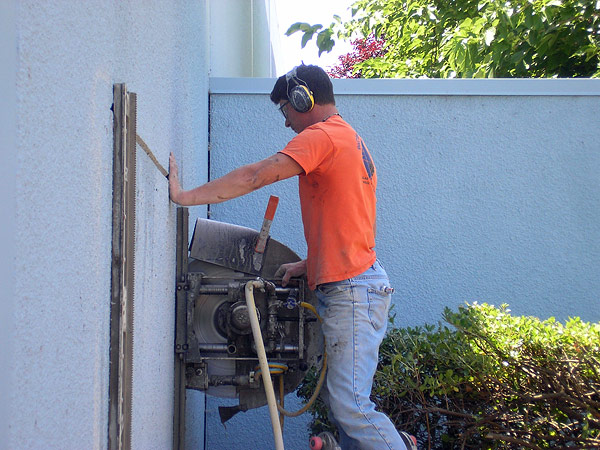 Wall Sawing Services : The work of pacific coast cutters